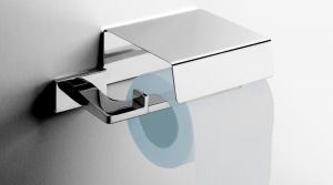 Porta rotolo con coperchio per il bagno serie Look Colombo design
