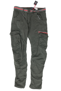 Trousers with green military pockets Loft1