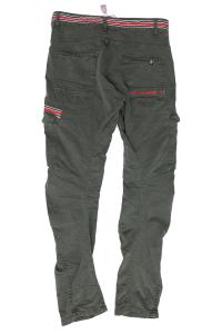 Pantalone con tasconi verde militare Loft1