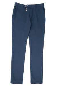 Blue trousers with Verdante micro-pattern