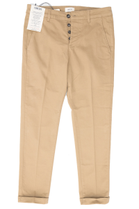 Pantalone cotone colore nocciola Concept