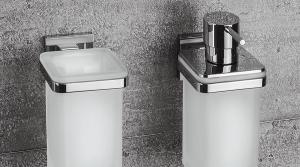 Dispenser sapone liquido per il bagno serie Basic Q Colombo design