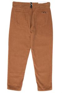 Pantalone velluto coste strette colore bruciato Amish