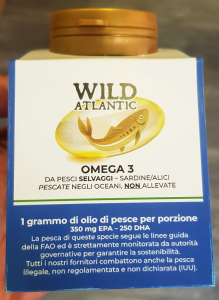 Wild Atlantic Omega 3 ONLY from wild fish of the Atlantic Ocean. One gram of Omega 3 per serving