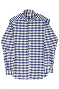 White and blue checked oxford shirt. Tar Milan