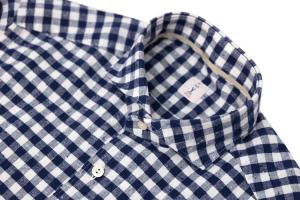 Camicia oxford a quadri bianca e blu. Tar Milano