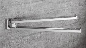 Porta salviette doppio a snodo per il bagno serie Basic Q Colombo design