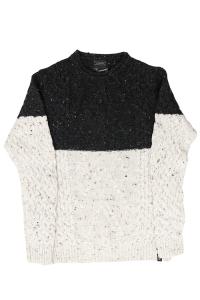 Maglione bicolore misto lana . Loft1