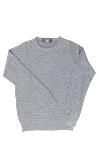 Maglione grigio lana merinos Raffo