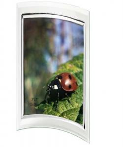 Portafoto In Vetro Concavo Verticale per foto 10x15ccm cm.19x15,5x2h