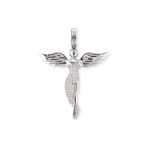 Chiama angeli – Erp Angel m: ciondolo donna in argento rodiato e zirconi Angelo