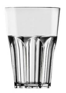 Bicchiere da esterno cocktail in plastica acrilico grande lucido trasparente 400ml cm.12h diam.8,3