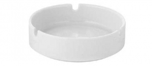 Posacenere in porcellana bianca Rotondo con 3 punti appoggio sigaretta 6 pezzi cm.3h diam.10