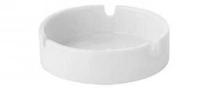 Posacenere in porcellana bianca Rotondo con 3 punti appoggio sigaretta 6 pezzi cm.3h diam.8