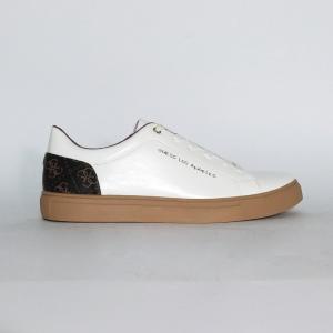 Sneaker bianca con retro logato Guess