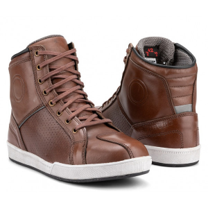 Scarpe moto pelle Carburo Urban WP Marrone