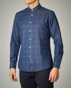 Camicia blu in fantasia