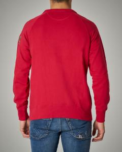 Felpa rossa girocollo in cotone