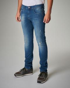 Jeans J13 slim-fit lavaggio medio-sabbiato
