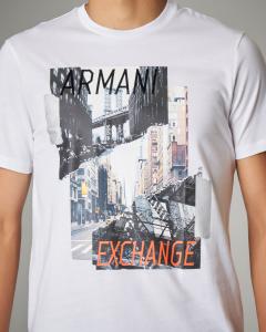 T-shirt bianca con stampa fotografica