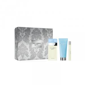 Dolce & Gabbana Light Blue Eau De Toilette Spray 100ml Set 3 Parti 2018