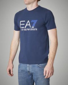 T-shirt blu tessuto stretch
