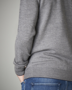 Maglia lana grigia girocollo