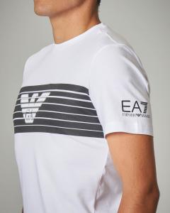 T-shirt bianca stretch
