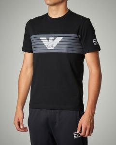 T-shirt nera stretch