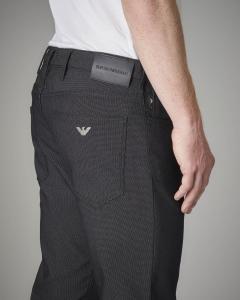 Pantalone cinque tasche nero