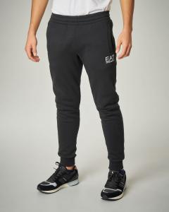Pantalone nero in felpa logo piccolo.