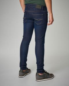 Jeans super skinny blu scuro