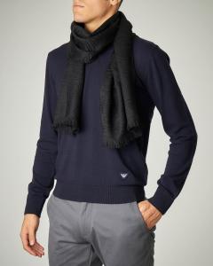 Sciarpa nera in lana