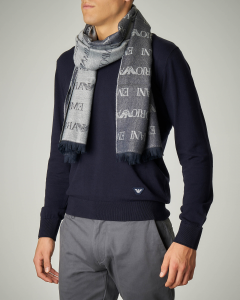 Sciarpa grigia in lana e modal