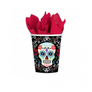 Bicchieri Teschio Messicano in carta - Day of the Dead - halloween