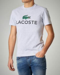 T-shirt grigio chiaro in cotone