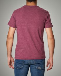 T-shirt bordeaux melange