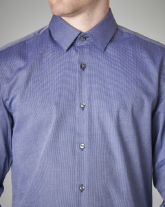 Camicia blu stretch microfantasia