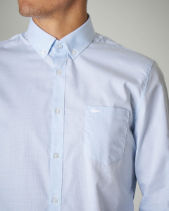 Camicia azzurra button down con taschino