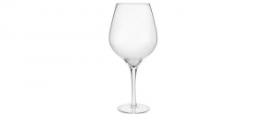 Grande Vaso Calice Vino in Vetro Soffiato cm.65h diam.21,5