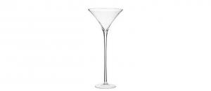 Grande Vaso Coppa Martini in Vetro Soffiato cm.70h diam.30