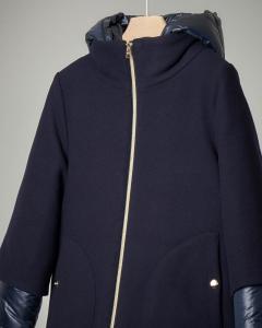 Cappotto blu combinato