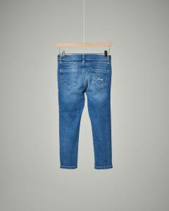 Jeans cuori glitter