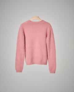 Maglia rosa girocollo