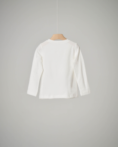 T-shirt bianca charmes 3-7 anni