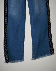 Jeans palazzo con banda S-XL