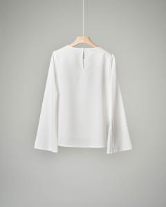 Camicia bianca girocollo