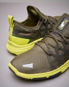 Sneakers running verde militare