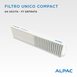 Filtro unico di ricambio per Alpac VMC Compact, Iki e Shu - Climapac VMC Compact, Aliante, Arias
