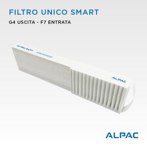 Filtro unico di ricambio per Alpac VMC Smart- Climapac VMC Inside Smart
